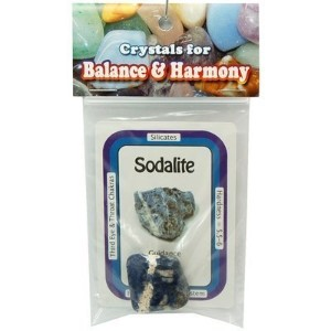 Tumbled Sodalite - Special - Tumbled XL Stone w/Crystal Card - 2pc. Bag by Healing Crystals