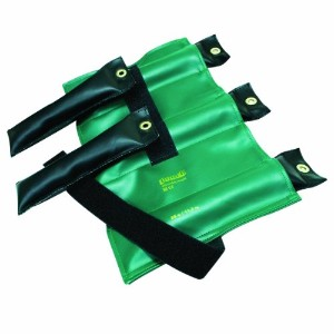 Pouch? Variable Wrist and Ankle Weight - 25 lb, 5 x 5 lb inserts - Green