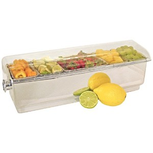 """co-rectプラスチック調味料入れホルダーwith Clear Lid 18.5"""" by 6.5"""" by 6.5"""" na"""