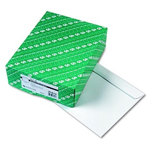 Open Side Booklet Envelope, Contemporary, 13 x 10, White, 100/Box (並行輸入品)