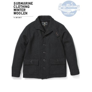 BUZZ RICKSON'S(バズリクソンズ)SUBMARINE CLOTHING WINTER WOOLEN/BR13877-01)CHARCOAL【2017AW.ver】