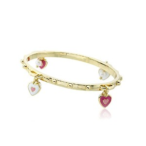 """Little Miss Twin Stars Girls ' """"スタッカブルStunners """" 14K金メッキアクセントwith Enamel and Fresh Water Pearl..."""