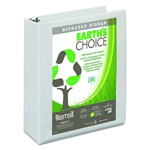 """Earth's Choice Biodegradable Round Ring View Binder, 2"""" Capacity, White (並行輸入品)"""