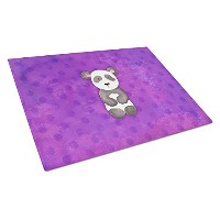 Caroline 's Treasures bb7375lcb Polkadot Panda Bear Watercolor Chopping Board、L、マルチカラー