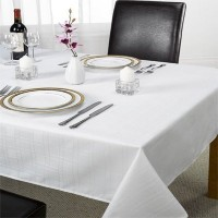 Emma Barclay Chequers Tablecloth, White, 52 x 70 Inch by Emma Barclay