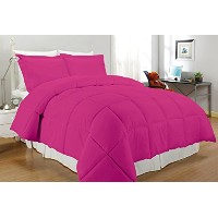 South Bay Down Alternative Comforter Full/Queen, Fuchsia by South Bay