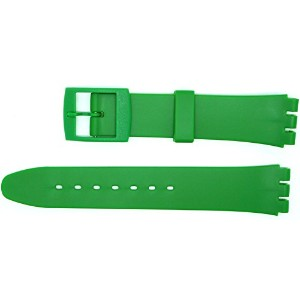 New 17mm (20mm) Sized Resin Strap Compatible for Swatch® Watch - Dark Green - RG14DG [並行輸入品]