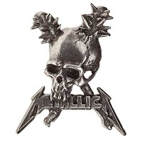 Metallica Lapel Badge Damage Inc Skull band logo 新しい 公式 Alchemy シルバー