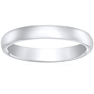Curated 5mm 10k White Gold Comfort Fit Plain Wedding Band Size 8.5 B004TIXU2Y メンズ [並行輸入品]