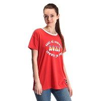 【ROXY ロキシー】 70's プリントTシャツ 【RST171110 RED L】