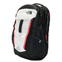 THE NORTH FACE SURGE BACKPACK TNF BLACK / FIERY RED [並行輸入品]