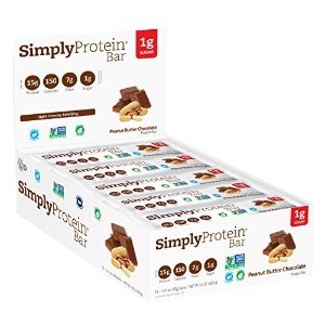 海外直送品The Simply Bar Protein Bar Peanut Butter Chocolate, Peanut Butter Chocolate 1.4 oz(case of 15)