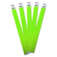 Crowd Management Wristbands, Sequentially Numbered, Green, 100/Pack (並行輸入品)