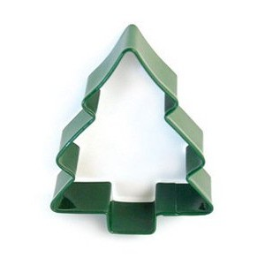 Green Christmas Tree Cookie Cutter 10cm Tall