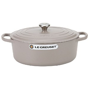 Le Creuset ルクルーゼ SIGNATURE シグニチャー Cocotte Ovale 27 cm ココットオーバル Silica シリカ 両手鍋 新生活 [並行輸入品]