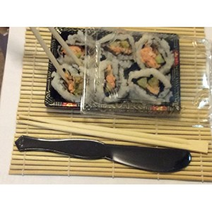 Decony Sushi Makingバンドル1のラウンドローリングマット、10containers with lids、9日本スタイルMikami箸、1プラスチックライスSpreader and...