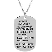 Always Remember You Are Braver Than You BelieveペンダントネックレスインスピレーションGifts for best friend