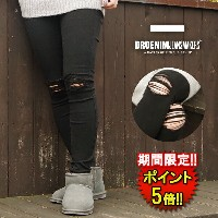 ドクターデニム【DR.DENIM】 LEXY BLACK RIPPED KNEES (1510111-A03) Lady's □