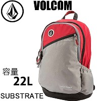 VOLCOM(ボルコム) VOLCOM ボルコム リュック SUBSTRATE Backpack  22L CMS グレーレッド バックパック D6531503(スノーボード・スケートボード・サーフ...