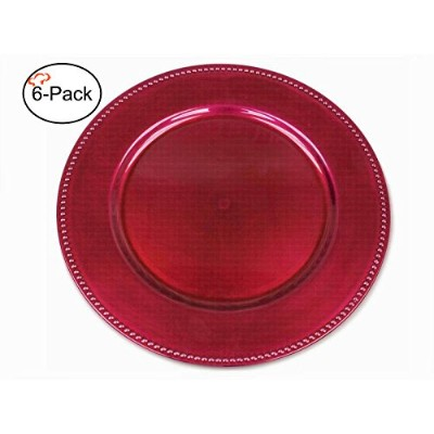 Tiger Chef チャージャープレート24枚セット 13インチ 円形 2/4/6/12/24枚 ディナーチャージャー ピンク hot pink charger plate