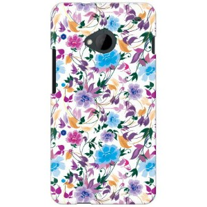 【送料無料】 breezeflower パープル produced by COLOR STAGE / for HTC J One HTL22/au 【Coverfull】【カバフル】【全面】...