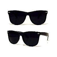 BLACK WAYFARER SUNGLASSES UV400ユニセックスレトロ80'S Geek