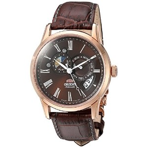 """Orient Classic Automatic """" Sun and Moon """"ローズゴールドドレスサファイアet0t003t"""