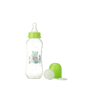 Abstract 9 Oz. Baby Feeding Bottle with Cover and Strainer (Green) by Abstract