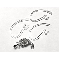 BSI 3pcs Clear Earhooks with Metal Part Inside for Plantronics Discovery 925 975 Modus HM1000...