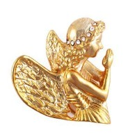 Praying Angelピン/ Eyeglass Holder with Swarovski Crystal Halo