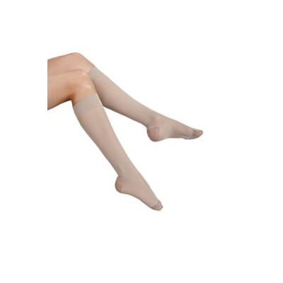 ITA-MED Sheer Knee Highs, Compression (23-30 mmHg) Nude, Large by ITA-MED