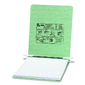 Pressboard Hanging Data Binder, 9-1/2 x 11 Unburst Sheets, Light Green (並行輸入品)