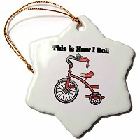 3drose Dooni Designs面白いとユーモアデザイン–This is How I Roll Trike Tricycleデザイン–装飾 3 inch Snowflake...