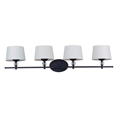 Maxim 12764 WTOI Rondo 4-light Bath Vanity – 36.25 Wで。 – Oil Rubbed Bronze 36.25 by 8.25-Inch...
