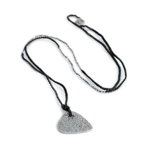 M.Cohen(エム・コーエン)Silver Guitar Pick Necklace (Silver) [N-101052-OXI-OXI-BLK] シルバー ギターピック ネックレス /...