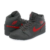 NIKE AIR JORDAN 1 MID ナイキ エア ジョーダン 1 ミッド ANTHRACITE/GYM RED/WHITE