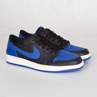 送料無料 men's メンズ 店舗限定 海外限定 日本未発売 Brand Jordan Air Jordan 1 Retro Low Og Black/Varsity Royal-Sail...