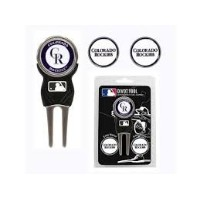 Colorado Rockies Divot Tool w/ Three Double 両面 Ball マーカー (海外取寄せ品)