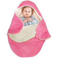 Wallaboo Baby Blanket Cozy Faux Suede with Thick Shearling Lining, Sweet Pink by Wallaboo [並行輸入品]
