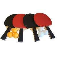 gameroomgoピンポンパドルセットwith 4Rackets、6Ping Pong Balls and Carryingケース