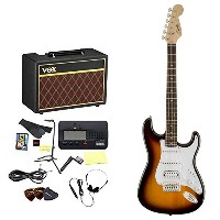 Squier by Fender / エレキギター入門セット Bullet Stratocaster with Tremolo HSS Brown Sunburst 【VOXアンプ&小物セット】...