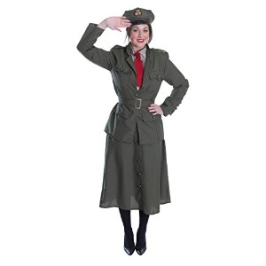 WW2 Army Officer Lady. (Adult Costumes) - Female - Uk Size 10-14