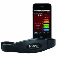 60beat BLUE Heart Rate Monitor for iPhone 4S, iPad (3rd Gen) & iPhone 5【並行輸入品】