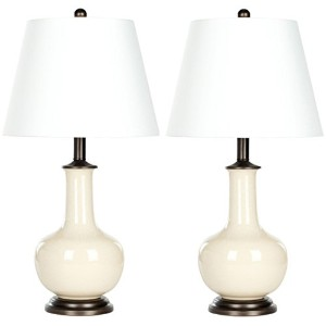Safavieh Lighting Collection Danielle Cream 22-inch Table Lamp (Set of 2) by Safavieh