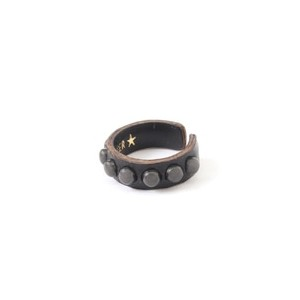 ROSETTA PRAYER / Round Leather Ring【ビームス メン/BEAMS MEN メンズ リング BLACK ルミネ LUMINE】