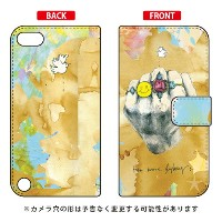 【送料無料】 手帳型スマートフォンケース MIKATAMO 「No more fighting.2」 / for iPod touch (第5世代) 【SECOND SKIN】ipod touch...