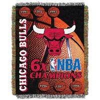 """NBAシカゴブルズ記念Woven Tapestry Throw、48"""" x 60"""""""