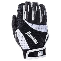 Franklin Sports 2nd-Skinz Batting Gloves Black/White Youth Small