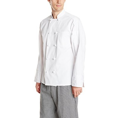 Uncommon Threads 0403-2504 Large Chef Coat 10 Knot in White