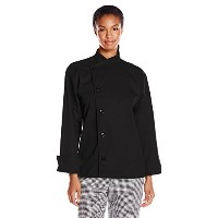 Uncommon Threads 0482-0104 Rio Chef Coat in Black - Large